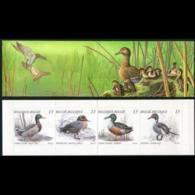 BELGIUM 1989 - Scott# 1324A Booklet-Wild Ducks MNH - België
