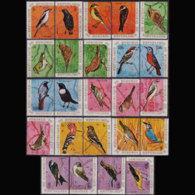 BURUNDI 1970 - Scott# 337a-42d Birds Set Of 24 MNH - 1970-79: Mint/hinged