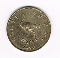 //  TANZANIA  20 SENTI  1966 - Tanzanie