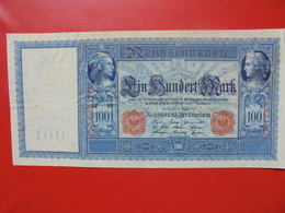 100 MARK 1910 ALPHABET: C CIRCULER (B.4) - [ 2] 1871-1918 : German Empire