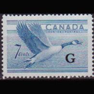 CANADA 1952 - Scott# O31 Geese Opt. 7c MNH - 1937-1952 Regering Van George VI