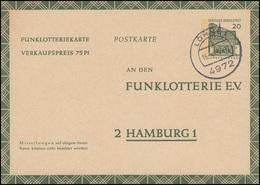 Funklotterie-Postkarte FP 12b Rahmfarben Lorsch 20 Pf. Grün LÖHNE 1. - 16.4.69  - Spiele