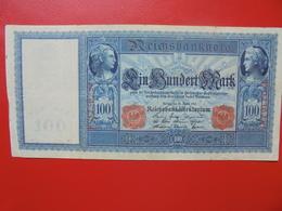 100 MARK 1910 ALPHABET: E CIRCULER (B.4) - [ 2] 1871-1918 : German Empire