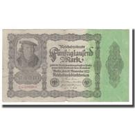 Billet, Allemagne, 50,000 Mark, 1922, 1922-11-19, KM:79, TB - [ 3] 1918-1933 : Weimar Republic