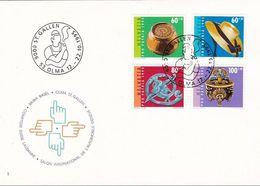 Schweiz Suisse PRO PATRIA 1995: Zu WII 247-250 Mi 1548-51 Yv 1476-79 Mit O ST.GALLEN 12.-22.10.1995 OLMA  (Zu CHF 6.50) - Lettres & Documents