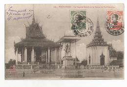 Cambodge Pnom-Penh La Pagode Royale Et La Statue Du Roi Norodom Carte Postale Ancienne Indochine - Cambodge