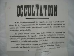 Affiche Communale (authentique)  Havré 1941 (occultation Des Bâtiments) - 1939-45