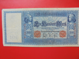 100 MARK 1910 ALPHABET: F CIRCULER (B.4) - [ 2] 1871-1918 : German Empire