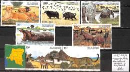 [836409]TB//**/Mnh-Zaïre 1982 - Virunga Park, Animaux Divers - Zaïre