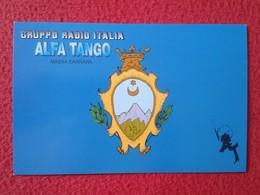 POSTAL POST CARD QSL RADIOAFICIONADOS RADIO AMATEUR GRUPPO ALFA TANGO ITALIA ITALY MASSA CARRARA TOSCANA TUSCANY VER FOT - Cartes QSL