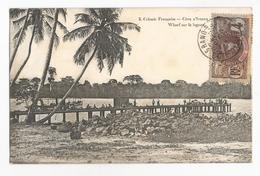 Côte D'Ivoire Grand Bassam Wharf Sur La Lagune Carte Postale Ancienne - Côte-d'Ivoire