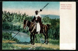 Ref 1308 - Early Ethnic Postcard - Bedouin Warrior On Horseback - Africa