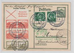 Zeppelin Deutschlandfahrt 1933 Mit Guter Frankatur - Zeppeline