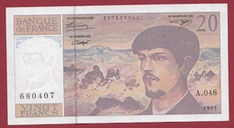 """20 Francs """"Debussy"""" 1995 --XF/SUP+---ALPH A.48 - 1962-1997 ''Francs''"""