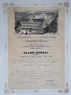 LOUVAIN 1858 Collège De La Ste Trinité Joséphites Diplôme De 1858-1859 François Terby De Louvain LEUVEN - Diplômes & Bulletins Scolaires