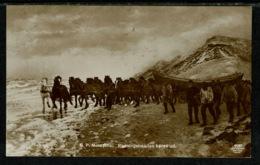 Ref 1308 - Early Scarce Norway Postcard N.P. Mols Pinx: Redningsbaaden Kores Ud. - Lifeboat Launch - Norway