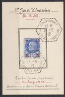 552 FDC Du 14.9.42 4F. PETAIN SECOURS NATIONAL - FDC