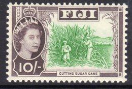 Fiji QEII 1962-7 10/- Cutting Sugar Cane Definitive, Wmk. St. Edward's Crown, MNH, SG 324 (BP2) - Fiji (...-1970)