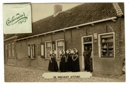 Ref 1308 - 1913 Ethnic Calender Novelty Postcard - Group Of Women In Holiday Attire Holland Netherlands - Europe