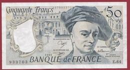 """50 Francs """"Quentin De La Tour"""" 1991 --VF/SUP---ALPH E.64---AUCUN TROU D EPINGLE - 1962-1997 ''Francs''"""