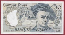 """50 Francs """"Quentin De La Tour"""" 1990 --XF/SUP+---ALPH Z.59 ---AUCUN TROU D EPINGLE - 1962-1997 ''Francs''"""