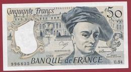 """50 Francs """"Quentin De La Tour"""" 1988 --XF/SUP+---ALPH U.54 ---AUCUN TROU D EPINGLE - 1962-1997 ''Francs''"""
