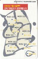 SOUTH KOREA - Map(W 5000), Used - Korea (Zuid)