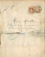 TIMBRES LETTRE Empire Francais Napoléon 1879 FONTENAY LE COMTE VENDEE LUCON VOIR IMAGES - 1876-1898 Sage (Type II)