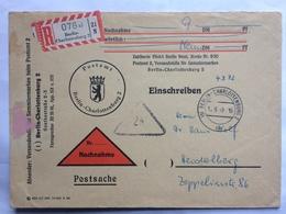 GERMANY 1959 Nachnahme Cover Postamt Berlin Charlottenburg Registered Einschreiben Sent To Heidelberg - [5] Berlin