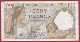 """100 Francs """"Sully"""" Du 05/03/1942.TB --F/TTB+---ALPH G.29210 ---AUCUN TROU D EPINGLE - 1871-1952 Anciens Francs Circulés Au XXème"""