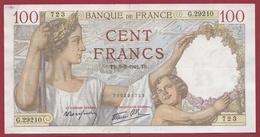 "100 Francs ""Sully"" Du 05/03/1942.TB --F/TTB+---ALPH G.29210 ---AUCUN TROU D EPINGLE - 1871-1952 Circulated During XXth"