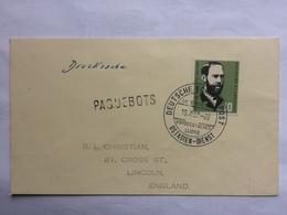 GERMANY 1959 Bundespost Schiffspost Ostasien-Dienst - M.S. Bayernstein - Paquebots Cachet To Lincoln England - Covers & Documents