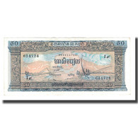 Billet, Cambodge, 50 Riels, UNDATED (1956-75), KM:7d, SUP - Cambodia