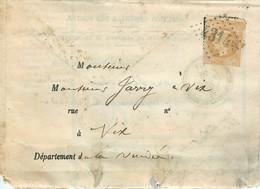 TIMBRES LETTRE Empire Francais Napoléon 1879 NAPOLEON VENDEE FONTENAY LE COMTE DIRECTION GENERALE DES POSTES VOIR IMAGES - 1876-1898 Sage (Type II)