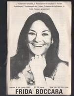 (amérique Du Sud) Programme FRIDA BOCCARA   1982 (PPP10958) - Programs