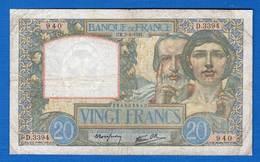 20 Fr Du   3/4/1941 - 1871-1952 Circulated During XXth