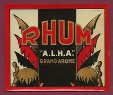 200619B - ETIQUETTE ALCOOL RHUM ALHA GRAND AROME Palmier Cactus - Rhum