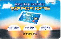 SOUTH KOREA - BC Top Card(W 2000), Used - Korea (Zuid)