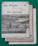 Le Photo Programme Des Théâtres Du Châtelet Et Monsieur Polichinelle - Années 1900 - Programs