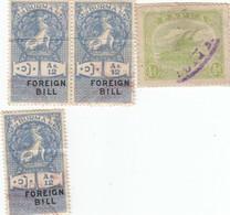 12560-LOTTICINO N°. 4 MARCHE DA BOLLO BURMA-PAPUA - Altri - Asia