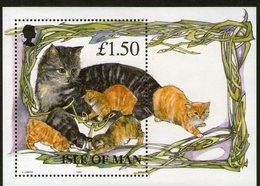 ISLE OF MAN, 1996 CATS MINISHEET MNH - Isle Of Man