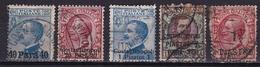 Italian Levant Constantinopel 1908 / 1922 : 5 Values Michel 9-21 IX-23III-58-73 - Buitenlandse Kantoren