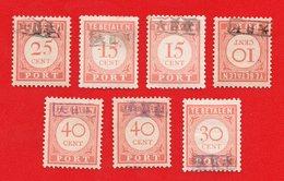 Lot Of 7 Nederlands Indie Dutch Indies Japanse  Occupation. Ovpt. Army Mint - Indonesien