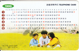 SOUTH KOREA - Calendar 1999(reverse Letter K, W 3000), Used - Korea (Zuid)