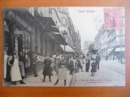 CPA - Tout Paris - Rue De Belleville - Ne Bougeons Plus ! - Coiffeur - Tramway - Tram - France
