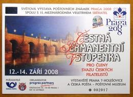 Czech Republic PRAGA 2008 - Honorable Permanent Ticket (Used) - Repubblica Ceca