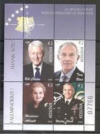 KOSOVO 2019,20TH ANNIVERSARY OF FREEDOM,CLINTON,BLAIR,ALBRIGHT,CLARCK,FAMOUS PERSONS,PRESIDENT,NATO,,BLOCK,, MNH - Kosovo
