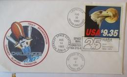 Raumfahrt USA 1648 Seeadler 9,35 $ Brief 1983 (31273) - Raumfahrt