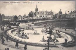 Exposition Universelle De Bruxelles 1910 - L'Entrèe Principale Et Les Bassins - HP1688 - Mostre Universali