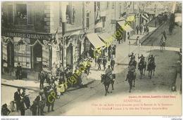 54. LUNEVILLE .  Fêtes Du 10 Aout 1919 Pour Le Retour De La Garnison. Le Général Lasson à La Tête Des Troupes Grande Rue - Luneville